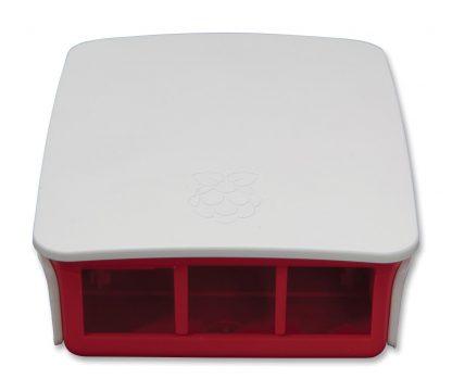 Virallinen muovikotelo Raspberry Pi 3 B & B+ -tietokoneille, valkoinen & vadelma