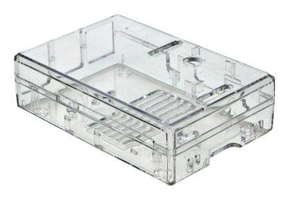 Läpinäkyvä muovikotelo Raspberry Pi Model B-tietokoneelle
