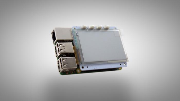 e-paperinäyttö Raspberry Pi:lle (PaPiRus Kickstarter)