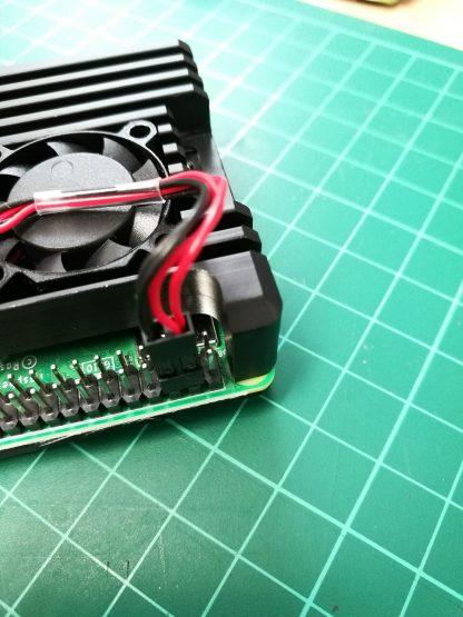 Jäähdytetty alumiinikotelo Raspberry Pi 4:lle