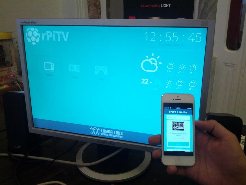 Google TV:n korvaaja Raspberry Pi:llä, NodeJS:llä ja Socket.io:lla