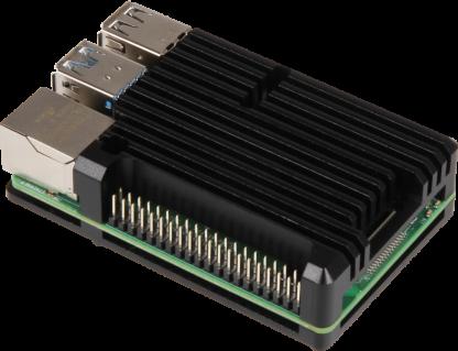 Passiivijäähdytetty alumiinikotelo Raspberry Pi 4 B:lle
