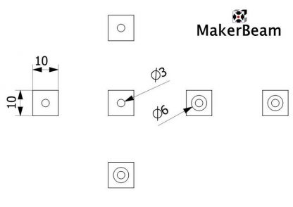 Makerbeam kulmakuutio