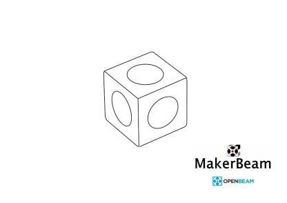 MakerBeamXL kulmakuutio