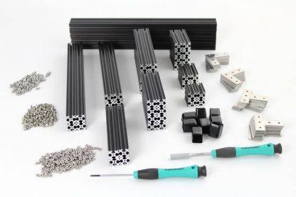 Black Precut Kit OpenBeam in-a-box plus XL brackets