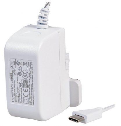 USB-C-virtalähde Raspberry Pi 4:lle (Valkoinen)